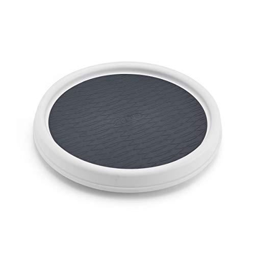 Copco Organizador giratorio y antideslizante para cajón, Plástico, 22.86cm (9''), Blanco/Negro, 1 uds. por paquete