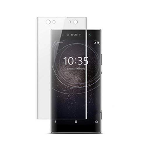 """HERCN Sony Xperia XA2 Ultra 6.0"""" 3D Vetro Temperato,Ultra Resistente 3D Curvo 9H Durezza Pellicola Protettiva in Vetro Temperato per Sony Xperia XA2 Ultra Smartphone (Trasparente)"""