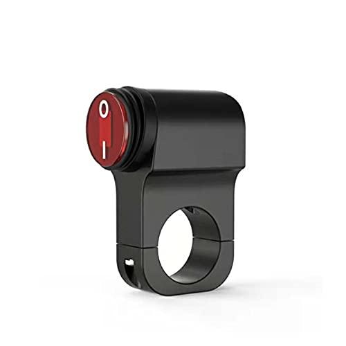 YYOMXXOM Botón de Control de la Manillar de la Motocicleta de aleación de Aluminio Individual/Doble Interruptor eléctrico Impermeable Circuito de la Motocicleta Control de Interruptor (Color : B)