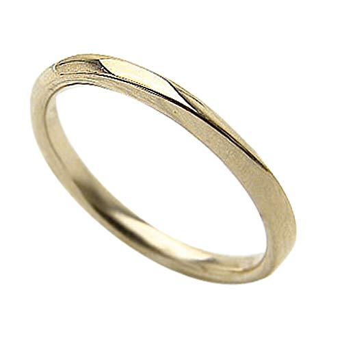 [ジュエリーアイ]Jewelry i ウェーブ シンプルリング ピンキーリング イエローゴールドK10 レディースリング 単品 結婚指輪 ブライダル ギフト 6.5号