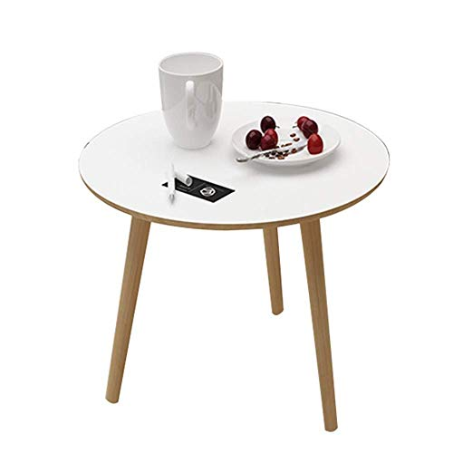 Table Coffee Table, Living Room Sofa Side Table Bedroom Bedside Table Round Small Apartment Mini Corner Table Simple Dining Table 4 Color 3 Size For Living Room Bedroom (Color : E) Home