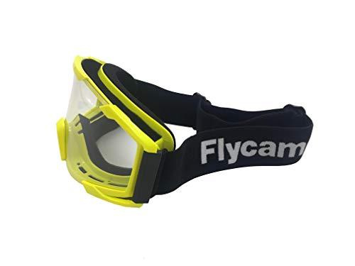 Flycam Occhiali da Moto Occhiali da Motocross Occhiali da sci ATV Dirt Bike,Occhiali da Combattimento Antivento e Antigraffio,Occhiali da Esterno di Sicurezza Regolabili Protettivi UV