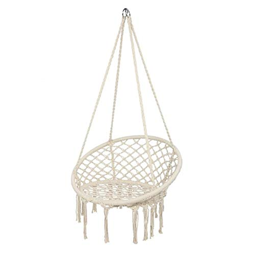 SOME Hammock Chair,Cotton Rope Mesh Swing,for Indoor&Outdoor Perfect Decor and Relaxation Choice