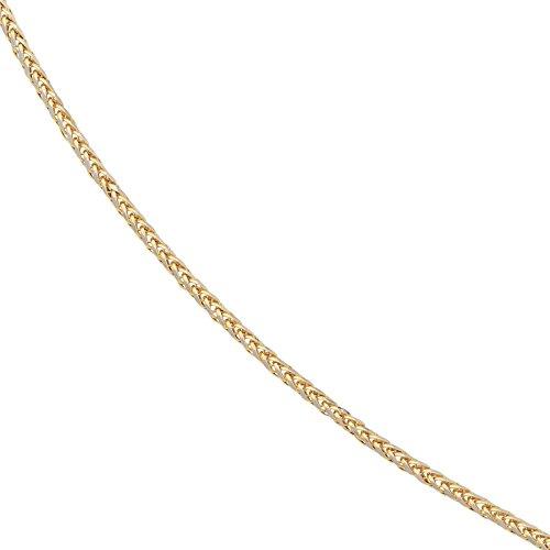 JOBO Zopfkette 585 Gelbgold Weißgold kombiniert 45 cm Gold Kette Halskette Karabiner