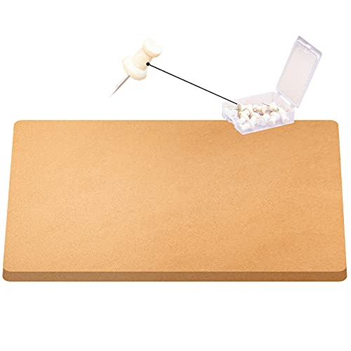 VEVOR Cork Roll, 4 ft. x 8 ft. Cork Underlayment, 1/2 in. Thick Cork Board Roll, Wood-Colored Roll of Cork, Rolled Cork Board w/ 20 Wooden Push Pins for Bulletin Message Board & Panel Acoustic Sheet