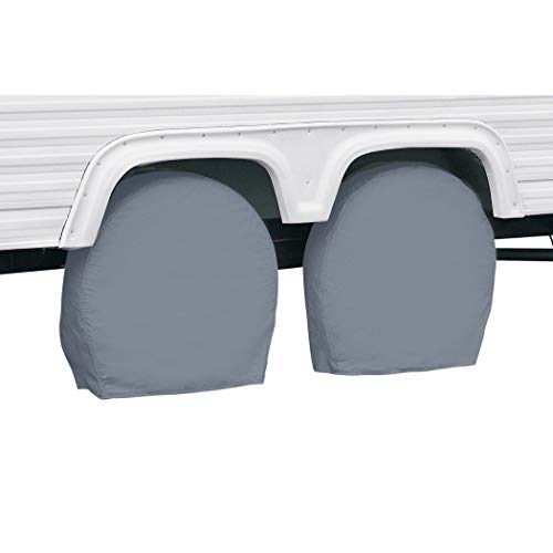 Classic Accessories RV & Trailer Wheel Covers 27'-30' Diameter, 8.75' Wide, Grey, Set of Two