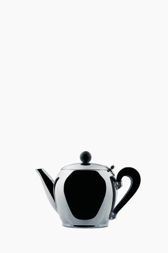 Alessi Miniatur Teekanne, Edelstahl, Silber, 12 x 11.5 x 35 cm