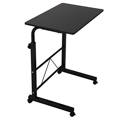 Queiting Computer Schreibtisch Laptop Schreibtisch Höhe Höhenverstellbarer Pc Schreibtisch Mit Rolle Beweglicher Beistelltisch Pflegetisch Home Bedside Laptop Schreibtisch Schwarz