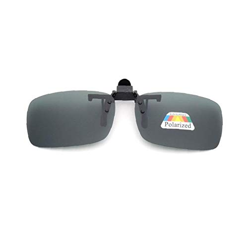 Naicasy Frame-Menos 3 PCS Unisex UV400 Lente polarizada rectángulo Lente tirón Encima del Clip en Gafas de Sol de la prescripción de anteojos de visión Nocturna de los vidrios