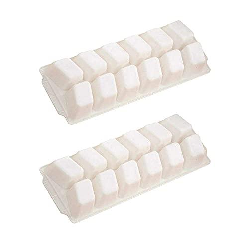 YRA 2 paquetes de bandeja para cubitos de hielo, 23,7 x 8,7 x 3 cm, bandeja de hielo blanca, molde para congelar zumos, cocinar vino, caldo, sopas, sobras y alimentos para bebés