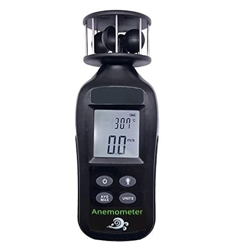 Tachimetro Portatile con anemometro Digitale per misurare la velocità/Temperatura del Vento con Un misuratore di direzione della velocità del Vento HVAC retroilluminato