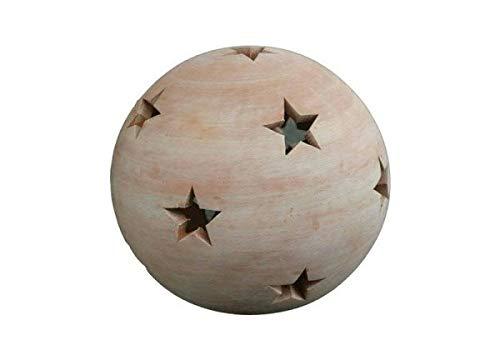 Sternkugel 12 cm aus Terracotta Terrakotta, Kugel Stern Garten Deko Windlicht
