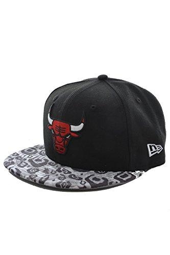 New Era Baseball Cap 59FIFTY Chicago Bulls Tribal Vize black red Gr. 7
