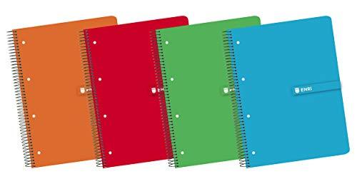 Enri 100430085 - Pack de 5 cuadernos en espiral, tapa dura