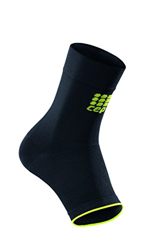 CEP Ortho+ Ankle Sleeve, Black/Green, Unisex, Size 2