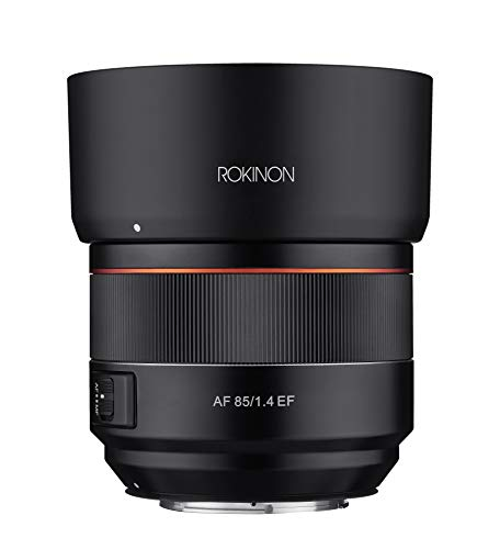 Rokinon 85mm F1.4 AF Lens for Canon EF Mount, Black (IO85AF-C)