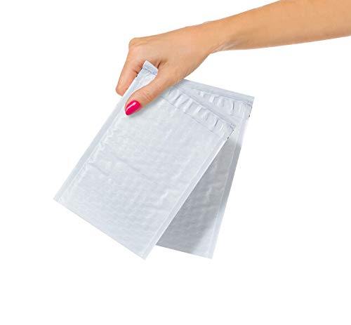 ABC Pack of 25 White Poly Bubble Mailers 4 x 7. Peel and Seal Bubble Padded Envelopes. Padded Mailer Envelopes 4x7, Shipping Bags for Mailing, Packing, Packaging in Bulk. Wholesale Price.