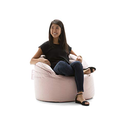 Big Joe Stack Chair, Desert Rose Plush Bean Bag