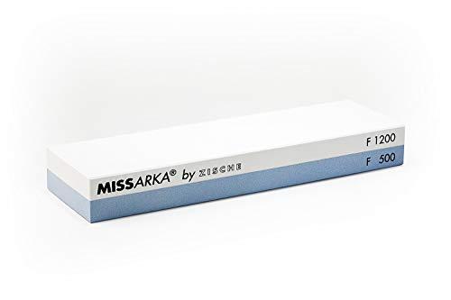 Zische Missarka Blue   Kombi Schleifstein FEPA 500/1200 (JIS 1200/4000)   Feiner Schliff für Messer und Werkzeuge