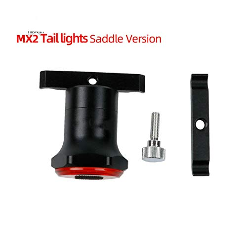 Luz trasera para bicicleta, arranque automático y parada de frenado de inducción, IPx6, impermeable, recargable por USB, seis modos de flash