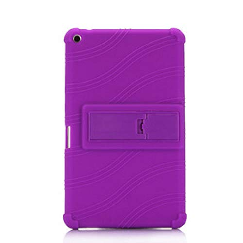 Funda Suave de Silicona a Prueba de Golpes para Huawei Mediapad T3 8.0 KOB-L09 / W09 Honor Play Pad 2 8 Pulgadas Tablet Funda Funda Stand-púrpura