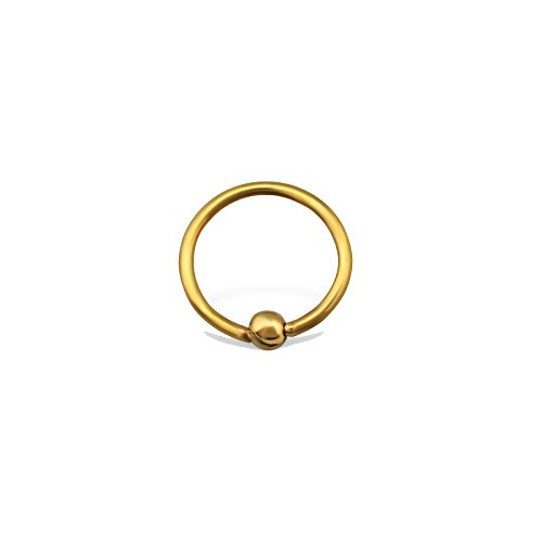Tata Gisèle Pack of 5 Gold 316L Surgical Steel Nose Piercing – Captive Ring 8 mm