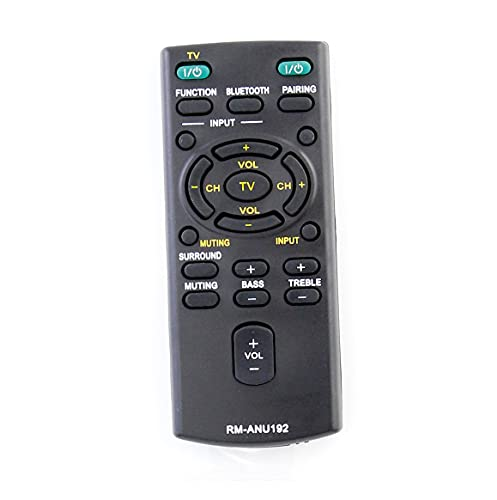 AULCMEET RM-ANU192 Telecomando sostituito compatibile con Sony Sound Bar HT-CT60 SA-CT60 SA-CT60BT HT-CT60BT SS-WCT60