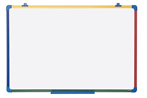 Bi-Office – Pizarra Blanca Magnética para Niños Schoolmate, Marco de 4 colores, 60 x 45 cm