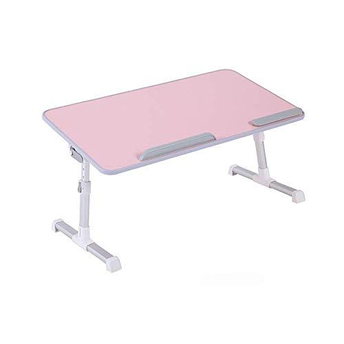 Cvghnfk Notebookständer Bett Kleinen Klapptisch Schreibtisch angehoben Werden kann und absenkbar Adjustable Studentenwohnheim mit Lazy Laptop-Tisch (Color : B)