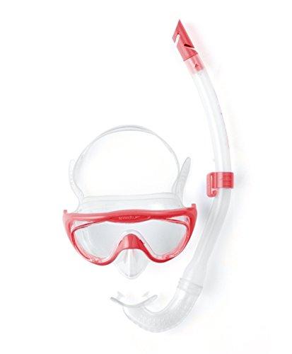 Speedo Glide Snorkel Set Juego de Buceo, Junior Unisex, Rosado, Talla única