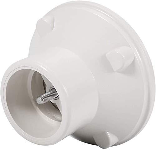 XHUENG Praktisch Überlauf Outlet Abtropffläche G1 1 / 2in Weiß Verstellbare Boden Inlet Beton Pool Montage Schwimmbad-Zubehör