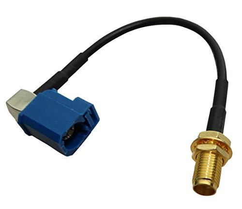 AERZETIX: Adapterkabel FAKRA-C vrouwelijk blauw hoek 90° / SMA-B vrouwelijk voor auto radio antenne GPS GSM RAL5005 C43449