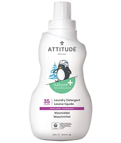 ATTITUDE Littleones Flüssigwaschmittel für 35 Maschinen, Sweet Lullaby, 1er Pack (1 x 1050 ml)