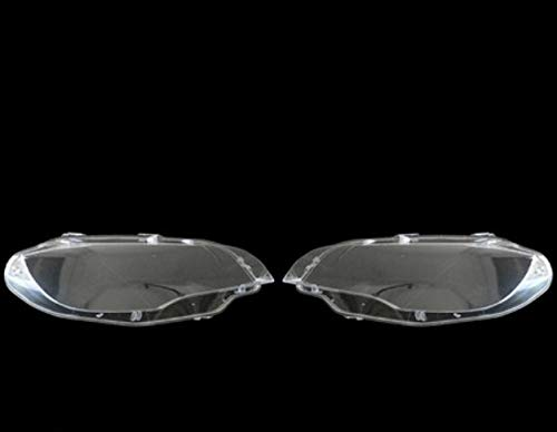 lilili Scheinwerfer Glasabdeckung Auto-Scheinwerfer-Abdeckung Shell Auto Klar Scheinwerfer Objektivabdeckung Ersatz Fit for BMW X5 E70 2008-2013 Auto-Frontlampe Shell Cover (Color : Left and Right)