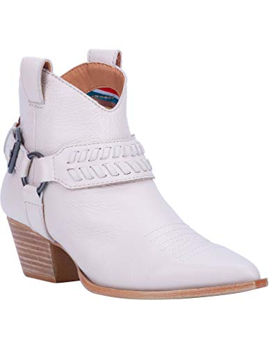 "Dingo Fashion Boots Womens Keepsake 5.5"" Shaft 8.5 M Off White DI111"