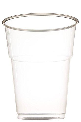 idea-station Kunststoff-Becher einweg 50 Stück, 500 ml, transparent, stapelbar auch als Wasser-Gläser, Whiskey-Gläser, Cocktail-Gläser einsetzbar, Party-Becher, Plastik-Becher, Einweg-Becher