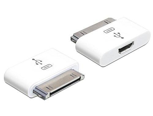 DeLOCK 65357 - Adaptador USB Micro-B para iPhone/iPad, Blanco