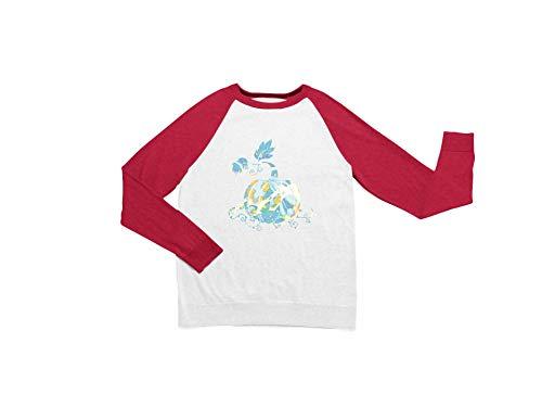 ハロウィンレディースパンプキン長袖スウェットシャツカジュアルラウンドネックTシャツ面白いレグランTシャツ Small