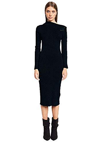 Denny Rose Vestito Donna Jeans 14001 Nero Glitterato