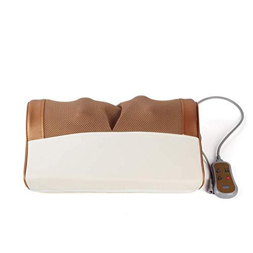 Stilvolle Einfachheit Travel Massage Pillow | Elektronisches Nackenmassagegerät | Shiatsu Deep Kneting Cervical Back Schulterkissen mit Fernbedienung Entspannen Sie die Muskelspannung, A-M