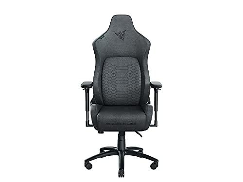 Razer Iskur Fabric - Chaise de Jeu Premium avec Support Lombaire intégré (Chaise de Bureau, Similicuir Multicouche, Rembourrage en Mousse, Coussin pour la tête)
