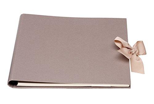 Rössler 1877451497 Gäste und Fotoalbum Forever, Wire-o Bindung, 290 x 240 mm, 1 Stück, taupe