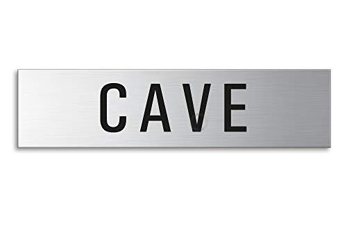 OFFORM Plaque de Porte de Cave 160 mm x 40 mm en Acier Inoxydable brossé pour Enseignants