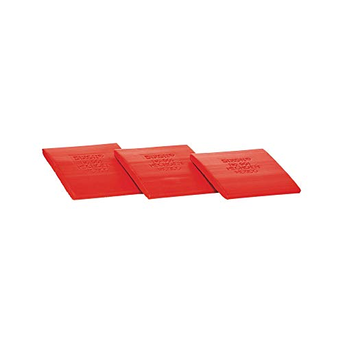 Dixon Industrial Tailor Crayon, 2' Flat Square with Beveled Edge, Permanent Mark, Red, 24-Pack (90101)