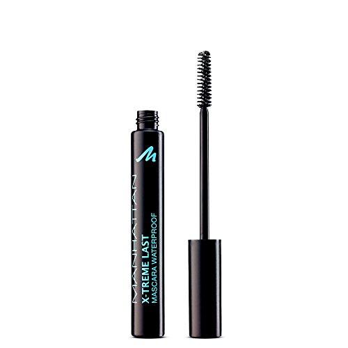 Manhattan XTreme Last Mascara – Wasserfeste Wimperntusche für lange, definierte Wimpern – Ohne zu verschmieren – Farbe Black 1010N – 1 x 6ml