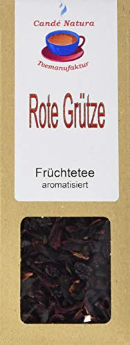 Candé Natura Teemanufaktur Rote Grütze Früchteteemischung, aromatisiert, 5er Pack (5 x 100 g)