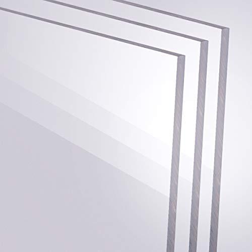 Acrylglas 2-10mm GS PMMA Transparent Glasklar Zuschnitt Scheibe Materialstärke und Größe Wählbar (3 mm, 600 x 1200 mm)