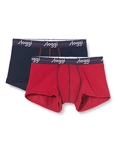 Sloggi Herren, Boxershorts, SLOGGI MEN START Hipster, 2er Pack, Mehrfarbig (Blau/red)), Gr. 6 (Herstellergröße: L)
