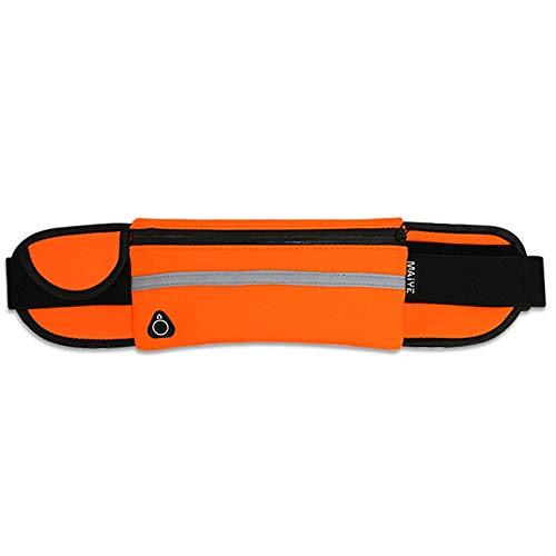 Bolso de la correa ajustable con cinturón elástico Teléfono de la pretina de corriente de la bolsa de la cinta andadora for paquetes de Fanny Mujer Hombre reflexivo paquete de la cintura de la correa