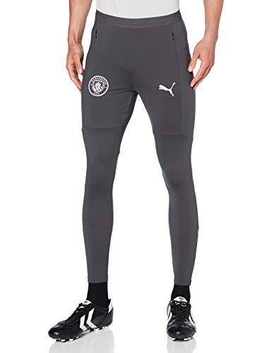 PUMA MCFC Training Pants W Pockets and Zip Legs Chándal, Hombre, Asphalt/Lilac Snow, XL